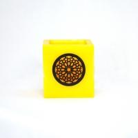 Marokkanische Windlichter aus Wachs Gelb