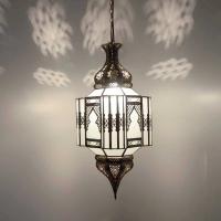 Orientalische Lampe GHP_W Milchglas