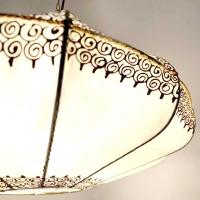 Orientalische Leder Hängelampe LWL-N