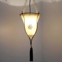 Marokkanische Lampe aus Ziegenleder