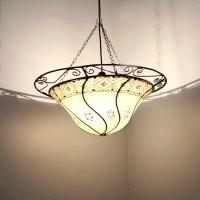 Leder Lampe aus 1001 Nacht Natur