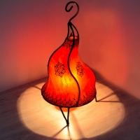 Marokkanische Leder Lampe LSC40_R 100% Handarbeit