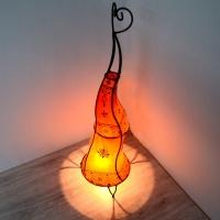 Marokkanische Steh-Lampe aus Ziegenleder H80 cm