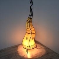 Orientalische Leder-Stehlampe aus Marokko LSCH_N H80 cm