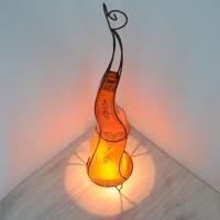Arabische Leder Lampe Orange H100