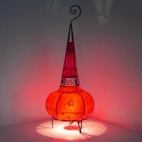 Orientalische Lampe aus Ziegenleder LStr70_R 100% Handarbeit