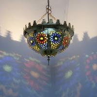 Orientalische Lampe aus Messing MRK
