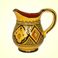 Marokkanische Karaffe Krug Keramik Vase Gelb