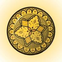 Keramikteller  Asfi – Gelb / Keramik D 35 cm