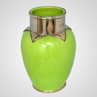 Marokkanische Vase aus Keramik Hellgrün H30