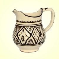 Keramik Krug Tata – Beige  / Braun H 17 cm