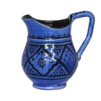 Orientalische Karaffe Krug Vase aus Keramik Blau