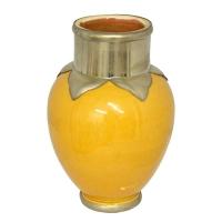 Keramikvase Gaga – Gelb H 23 cm