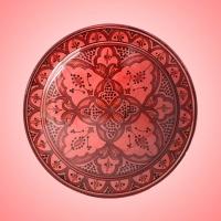 Keramikteller Tadelakt – Rot D 35 cm