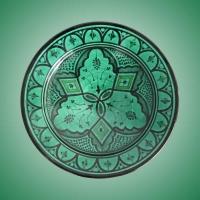 Orientalische Teller aus Keramik Grün D35