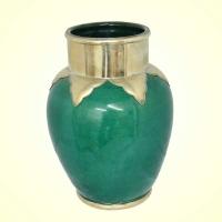Orientalische Keramikvase Alia Small – Grün H 23 cm