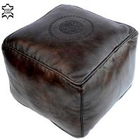 Orientalisches Leder Sitzkissen LSR3 Dunkelbraun