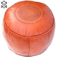Sitzkissen aus Echtem Leder Ronda – Orange D 44 cm