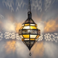 Arabische Deckenlampe Ufo Amber H 45 cm