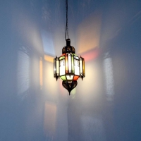 Arabische Deckenlampe Alome Bunt Medium H 50 cm