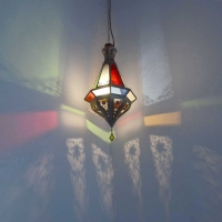 Orientalische Lampe Fish Bunt H 55 cm