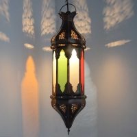 Orientalische Lampe GHCL_Multifarbiges Glas