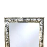 Orientalischer Spiegel S22 aus versilberten Messing