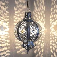 Marokkanische Lampe KHYG_S Silber 100% Handarbeit