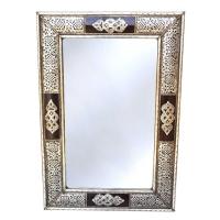 Orientalischer Spiegel S23 versilberten Messing