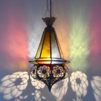 Marokkanische Deckenlampe Fishes Bunt H 55 cm