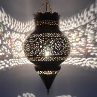 Orientalische Lampe aus Messing 100% Handarbeit