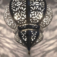 Marokkanische Deckenlampe Sephora Silber H 72 cm