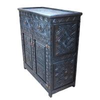Orientalische Kommode Mirai aus Zedernholz Handgeschnitzt H 105 cm