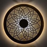 Marokkanische Wandleuchte Cercle Big aus Messing D 80 cm
