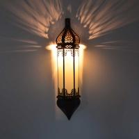 Orientalische Glas-Wandlampe Ko01