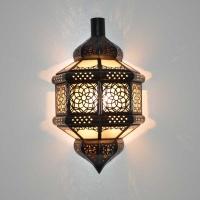 Orientalische Wandleuchte Assala Milchglas H 37 cm