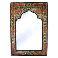 Orientalischer Spiegel Maghreb – Orange H 80 cm