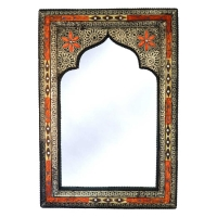 Orientalischer Spiegel Maghreb  Small – Orange H 60 cm