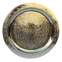 Arabisches Teetablett Gandhi– Silber D 50 cm