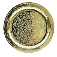 Arabisches Teetablett Granada – Messing D 50 cm