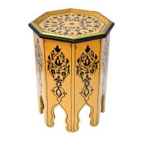 Arabischer Beistelltisch Riad Beige Handbemalt 100% Handarbeit H 50 cm