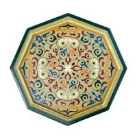 Arabischer Beistelltisch Etihad – Beige Vollholz Handbemalt H 54 cm