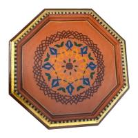 Arabischer Beistelltisch Amr Braun Handbeamlt 100% Handarbeit H 50 cm