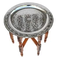 Arabischer Teetich Samarkand – Silber D 50 cm