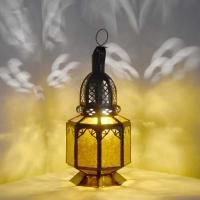 Arabische Lampe Sabah Amber H 27 cm