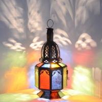 Marokkanische Lampe Sabah Bunt H 27 cm