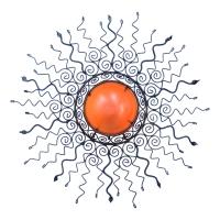 Orientalische Wandlampe Sonnenblume Orange