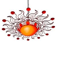Orientalische Wandleuchte Shams Orange