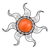 Orientalische Wandleuchte Sonne Orange