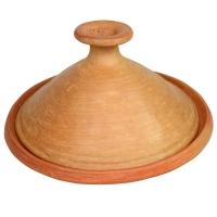 Marokkanische Tajine Wadlaw Medium Natur 2 bis 4 Personen D 31 cm